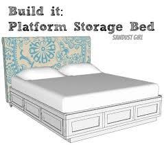 King Size Platform Bed Plans Brilliant King Platform Storage Bed Plans And How To Build A