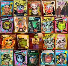 assorted vintage plastic halloween masks blood curdling blog of