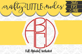 4 letter circle monogram by craftylittlenodes thehungryjpeg com