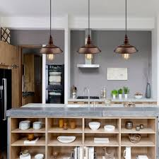 lighting pendant lighting for kitchen island with wooden shelves