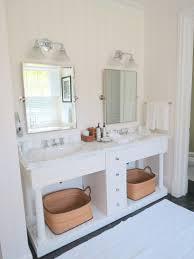 pottery barn bathroom ideas elegant white polished wood pottery barn bathroom double sink