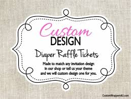 raffle baby shower custom design made to match baby shower raffle ticket