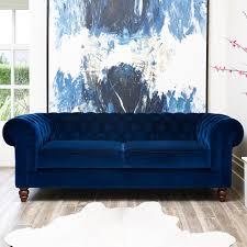 chesterfield 4 seater velvet sofa blue costco uk