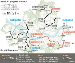 Seoul Metro Map by Seoul Lrt Projects Update Part 1 2