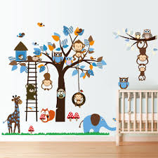 monkey giraffe owl bird tree wall stickers decal home art baby monkey giraffe owl bird tree wall stickers decal home art baby kids nursery vinyl bedroom stickers on luulla