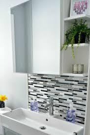 Pedestal Sink Backsplash Ideas Bathroom Sink Backsplash - Bathroom sink backsplash