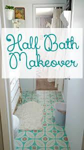 half bath half bath makeover reveal little vintage cottage