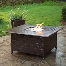 Propane Coffee Table Fire Pit by Red Ember Longmont 45 In Square Propane Fire Pit Table Hayneedle