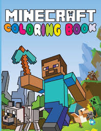 minecraft coloring book fun minecraft drawings for kids amazon