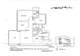 3 Bedroom Condo Floor Plan by Condo 3 Bed Seahill