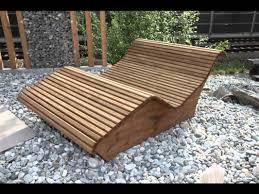 Gartenbank Selber Bauen Bauanleitung Wellnessliegen Youtube