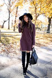 thanksgiving idea sweater dress otk boots awesome fall