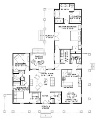 floor plans for 5 bedroom homes houseplans com country farmhouse floor plan 456 6 beautiful 5