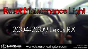 used lexus rx 350 kansas how to reset maintenance lights for 2004 to 2009 lexus rx youtube