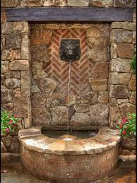 Backyard Water Fountain by Wall Stone Cool Backyard Fountains Great Addition Cool Backyard