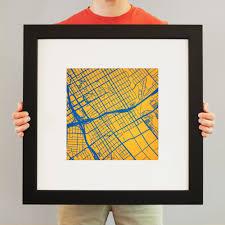 San Jose State Campus Map by San Jose State University Campus Map Art City Prints
