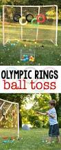 Backyard Olympic Games For Adults Olympic Rings Ball Toss Gross Motor Olympics And Tossed