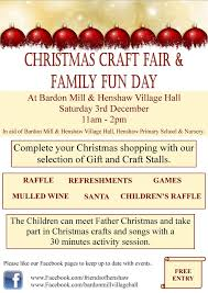 christmas craft fair and family fun day bardon mill and henshaw