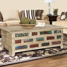 Rustic Chest Coffee Table Solid Rustic Reclaimed Wood Storage Trunk Coffee Table