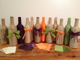 wedding colors purple orange and green i made these out of wine