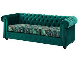 canape chesterfield velours canapé et fauteuil velours vert imprimé chesterfield