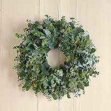 eucalyptus wreath eucalyptus wreath williams sonoma