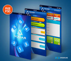 design games to download psd gang provides free high quality mobile ui psd website template