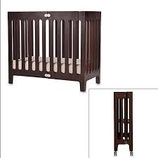 Baby Mini Cribs Bloom Baby Alma Folding Cot Mini Crib In Cappuccino Bed