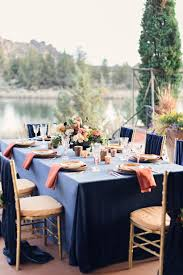 navy blue table runner rental luxurious navy and gold wedding inspiration at ranch at the canyons