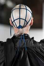the hair and makeup at maison margiela haute couture spring 2017