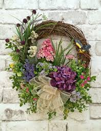 spring door wreaths floral spring wreath summer wreath for door silk floral wreath