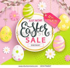 easter egg sale horizontal easter sale banner flyer design stock vector 774165277