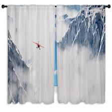 Airplane Shower Curtain Airplane Custom Size Window Curtains