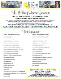 i want to be a wedding planner le festin events presents the wedding planner intensive kramer