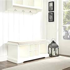 entryway storage bench with hooks white storage bench with cushion