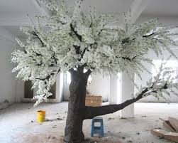 white artificial tree factory supplier white artificial tree