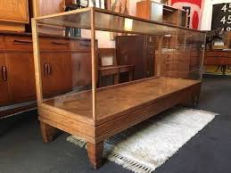 glass counter display cabinet early 20th century antique oak and glass shop counter display