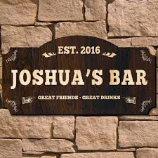 bar personalized wood sign signature series