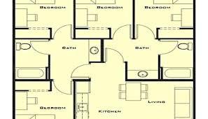 floor plans for 4 bedroom houses small house plan 4 bedroom nurseresume org