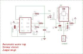 automatic water tap using 555 timer 4 steps