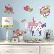 roommates 5 in x 11 5 in wild horses peel and stick wall decal