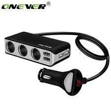Multi Socket Car Charger With Usb Port Multi Usb Car Charger Ebay
