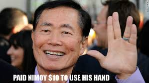 George Takei Oh My Meme - poll should fans be angry george takei doesn t write his own