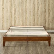 Wooden Platform Bed Frame King Size Modern Low Profile Solid Wood Platform Bed Frame In