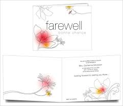 free printable invitation cards templates farewell card template