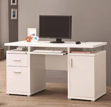 furniture white computer desk with file drawers for home office