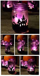 Recycled Halloween Crafts - diy up cycled halloween village luminaries craft bayshore recycling