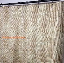 High End Fabric Shower Curtains Fabric Shower Curtain Monroe Slub Snowy Grey Blue White Extra