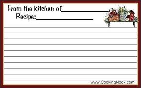 recipe card template playbestonlinegames