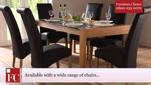 Oak Dining Furniture Callisto Oak And Glass Dining Table Light From Furniture Choice